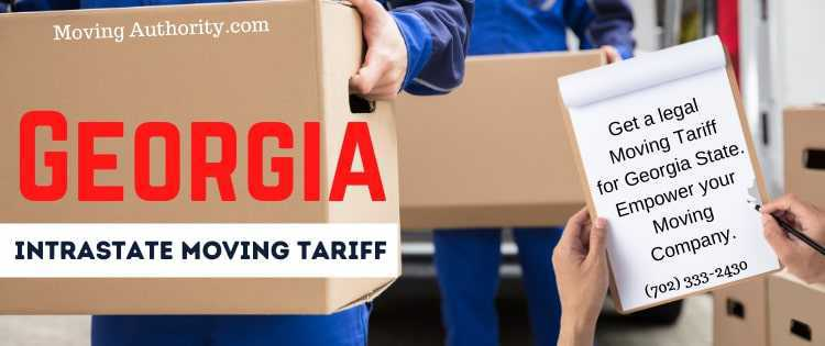 Georgia Intrastate Moving Tariff