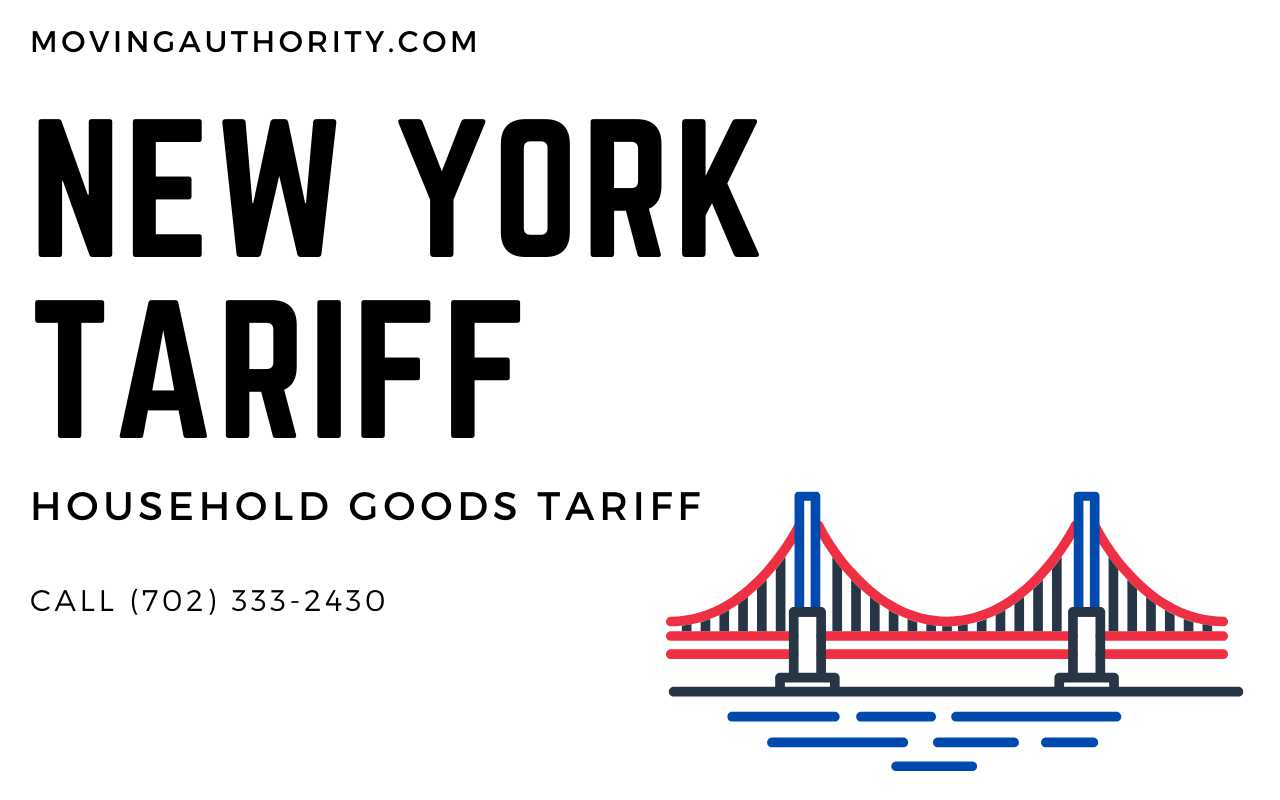 New York Moving Tariff