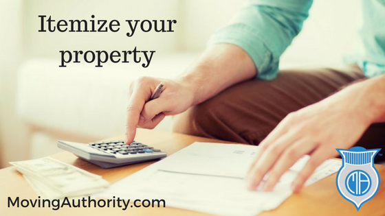 Itemize your property