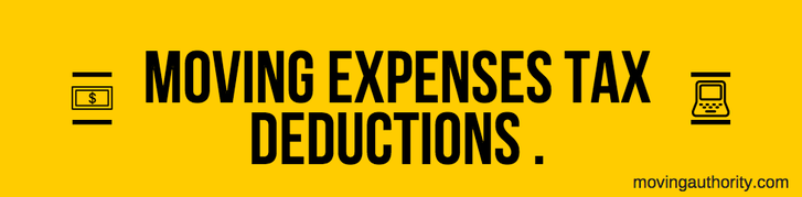 Moving expenses tax deductions