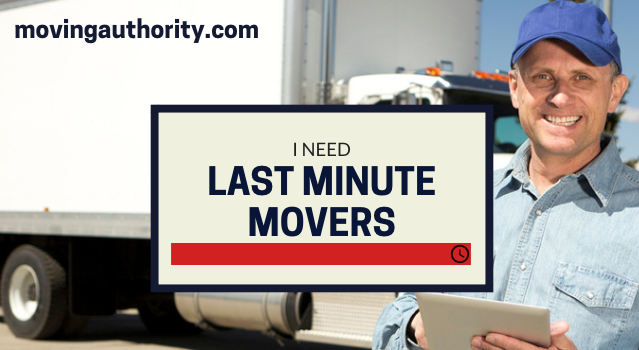 Last minute movers on same day