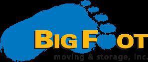Big Foot Moving & Storage company logo