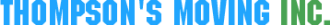 Thompsons Moving Service company logo