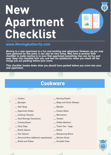 New Apartment Checklist | MA