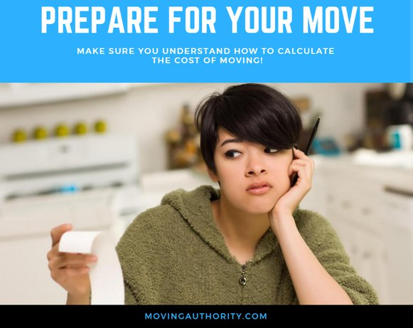 prepare calculate moving cost