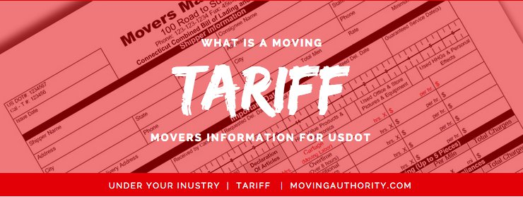 Understanding a moving tariff