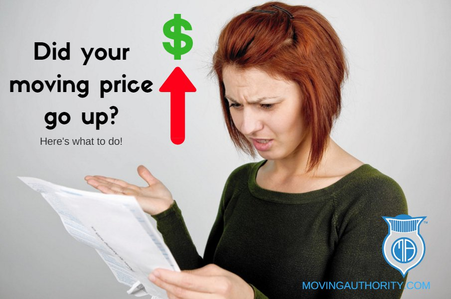 What to do if your moving price goes up